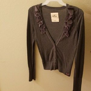 Hollister womens large cardigan .